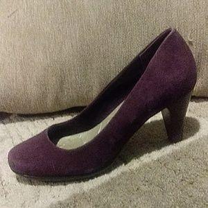 Giani Bernini Purple Leather/ Suede Heels 8